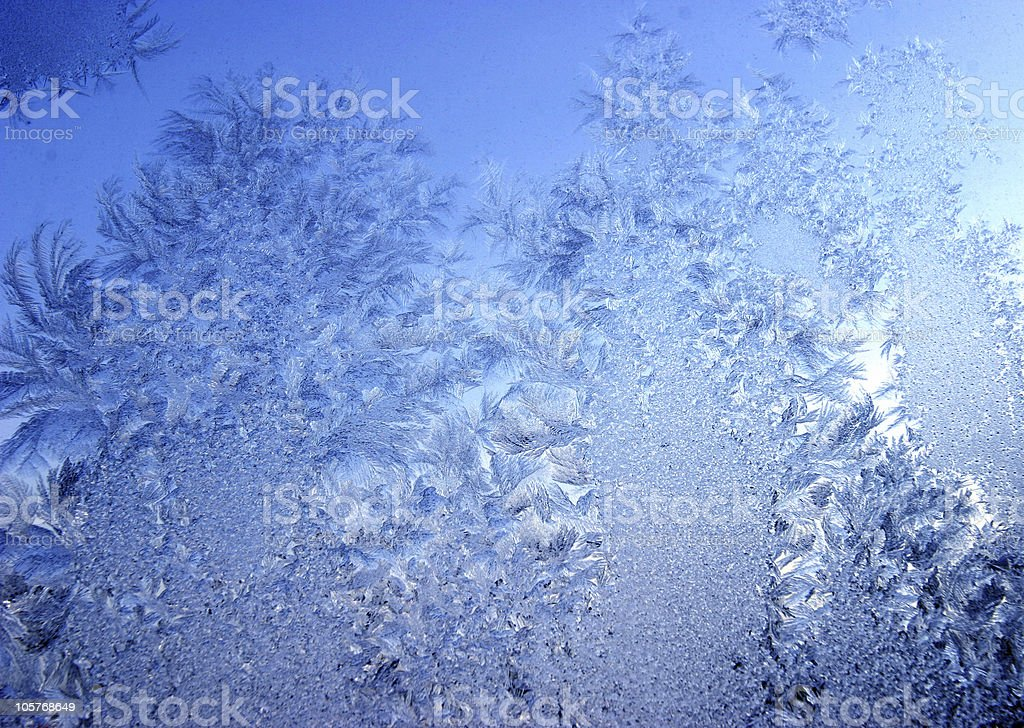 Blue frost royalty-free stock photo