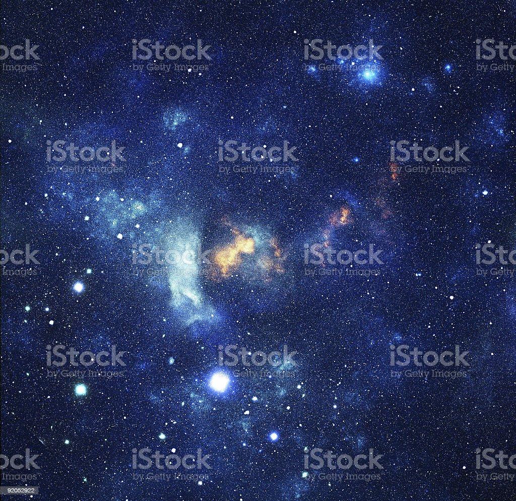 Blue galaxy stock photo