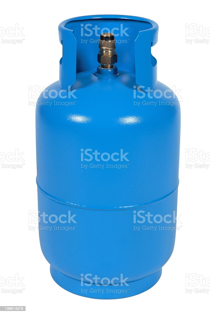 Blue gas balloon stock photo