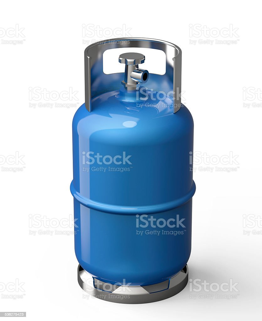 Blue gas container stock photo