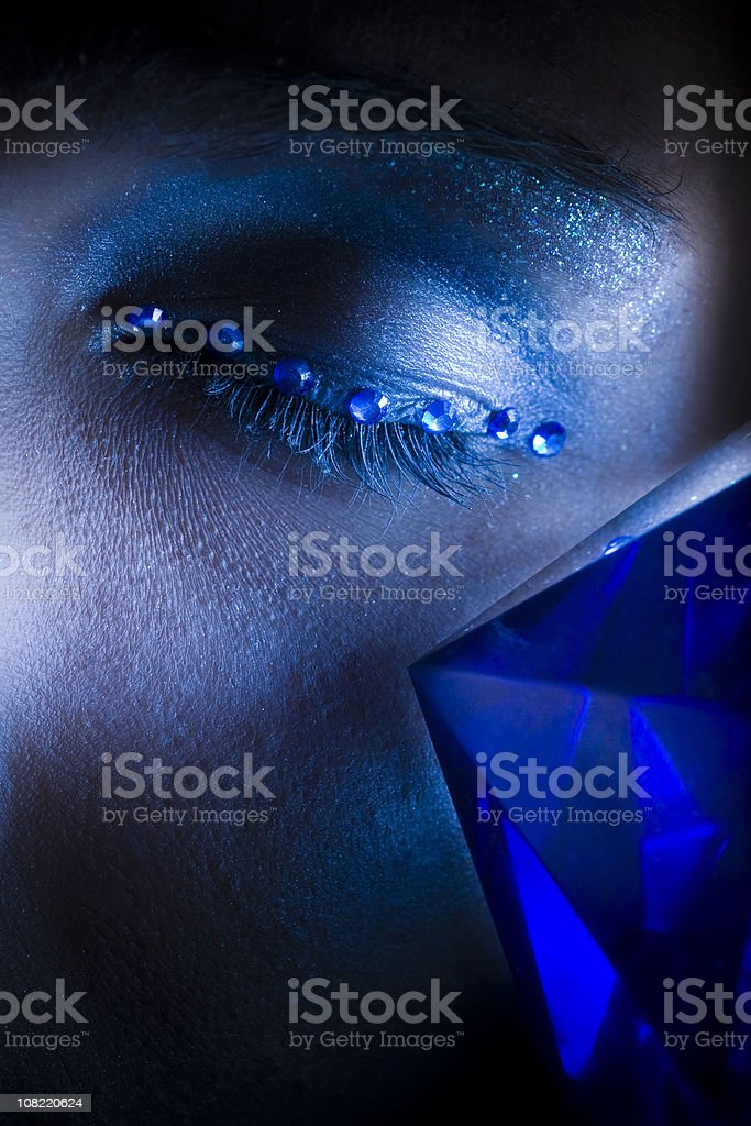 Blue Gems stock photo