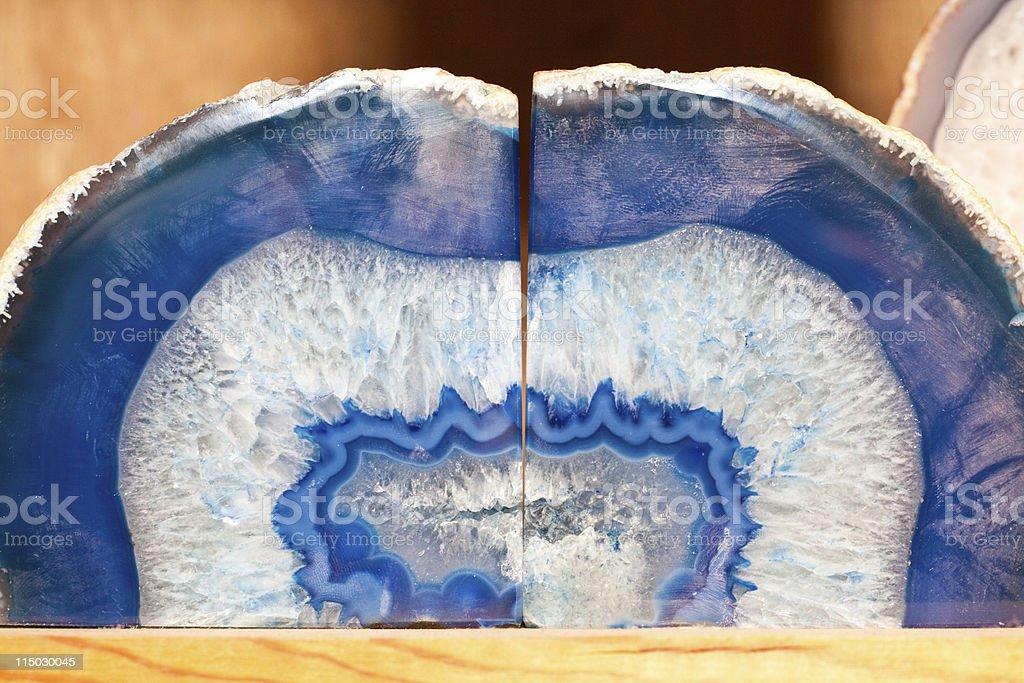 blue geode stock photo