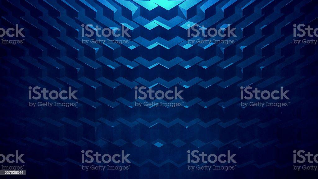 Blue Geometric Background stock photo