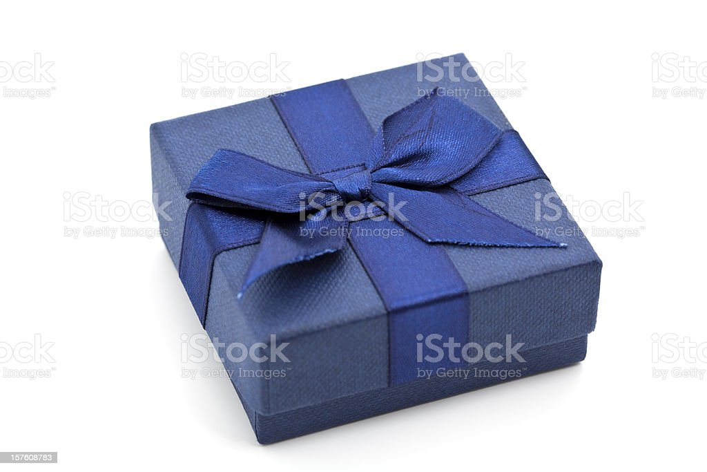 blue gift box royalty-free stock photo