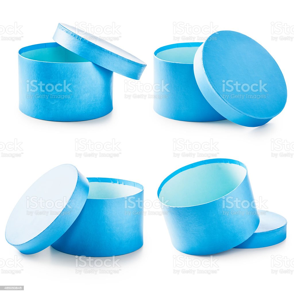 Blue gift boxes stock photo