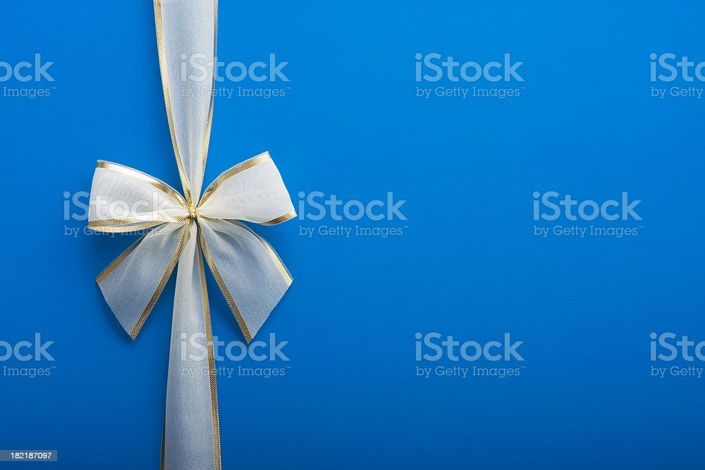 Blue Gift with a Bow royalty-free stock photo