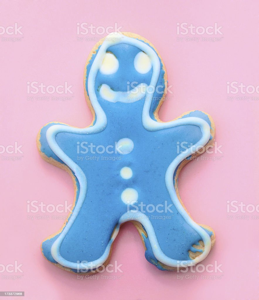 Blue Gingerbread Man royalty-free stock photo