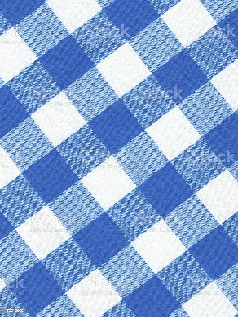 blue gingham pattern royalty-free stock photo
