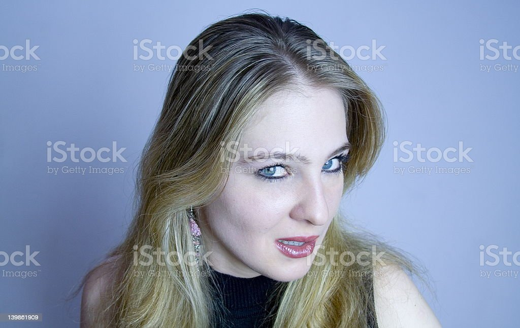 Blue girl stock photo