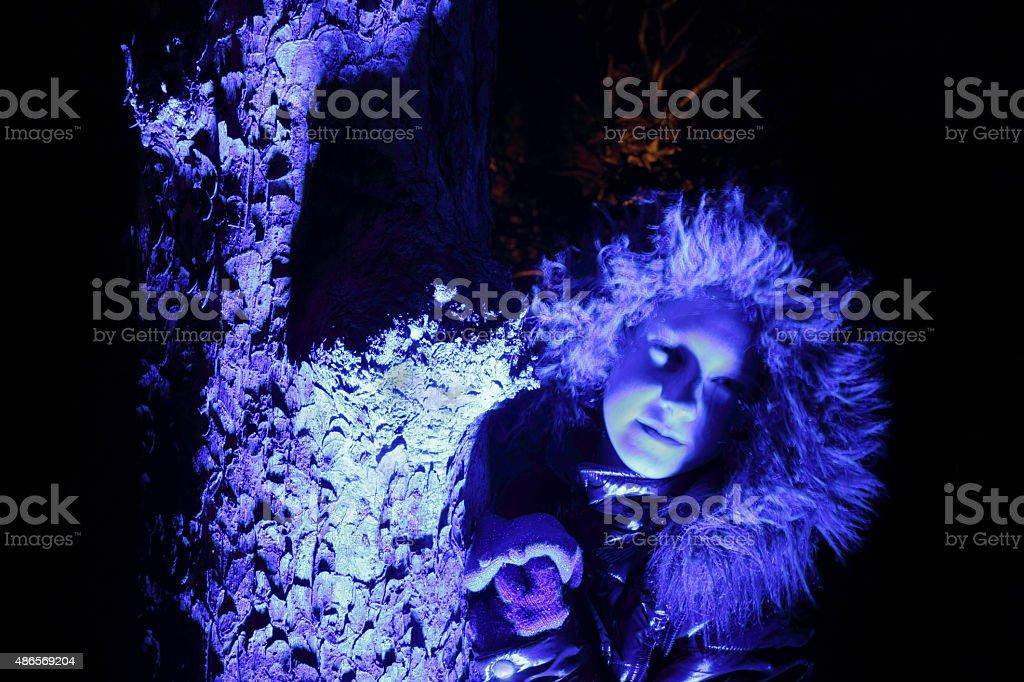 blue girl stock photo