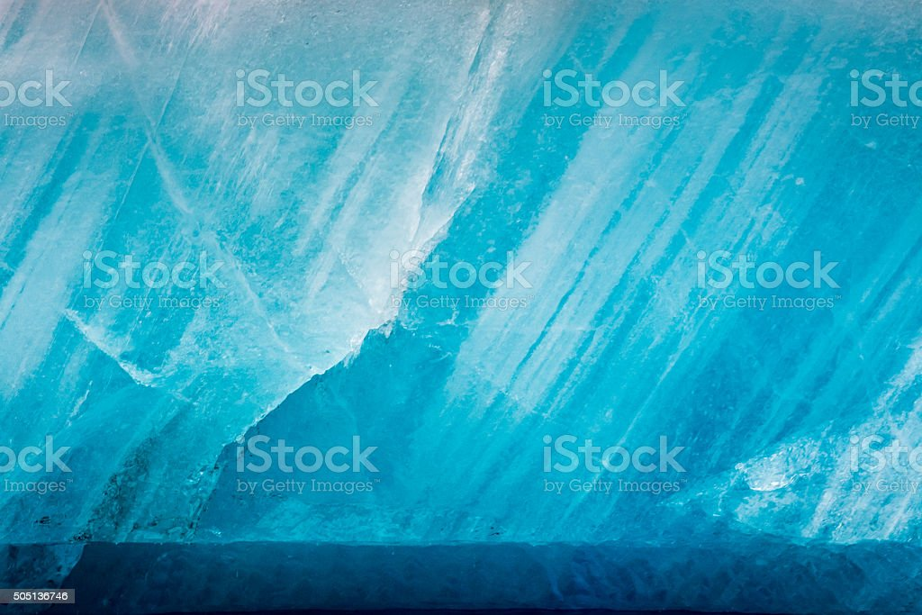 Blue glacier as background stock photo