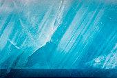 Blue glacier as background