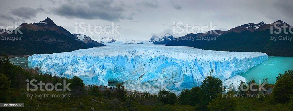 Blue Glacier panorama stock photo