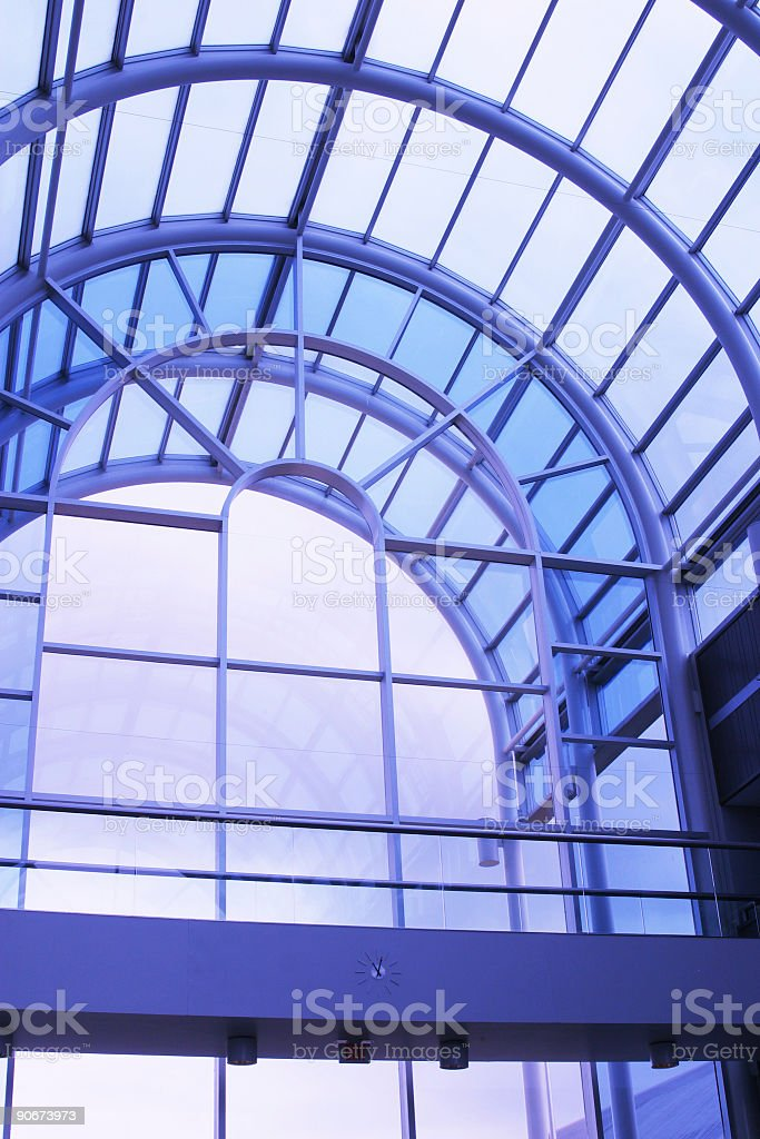 Blue Glass Arched Entry royalty-free stock photo