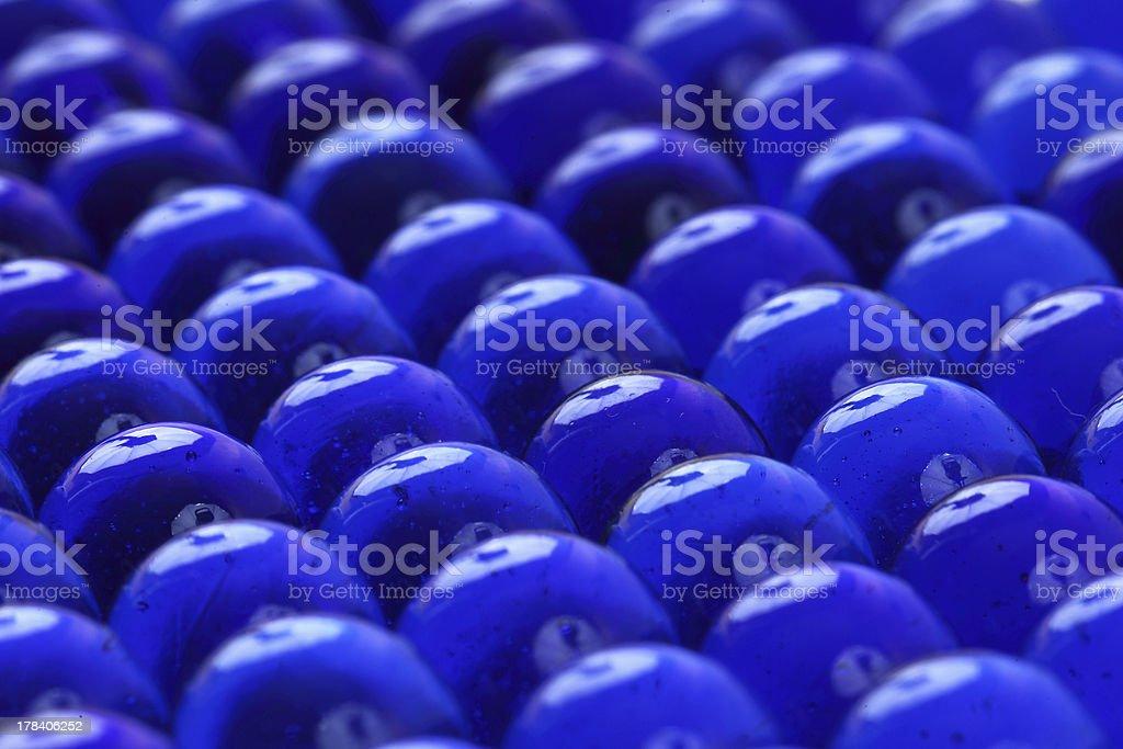 ブルーのガラス製のボールの質感 ロイヤリティフリーストックフォト
