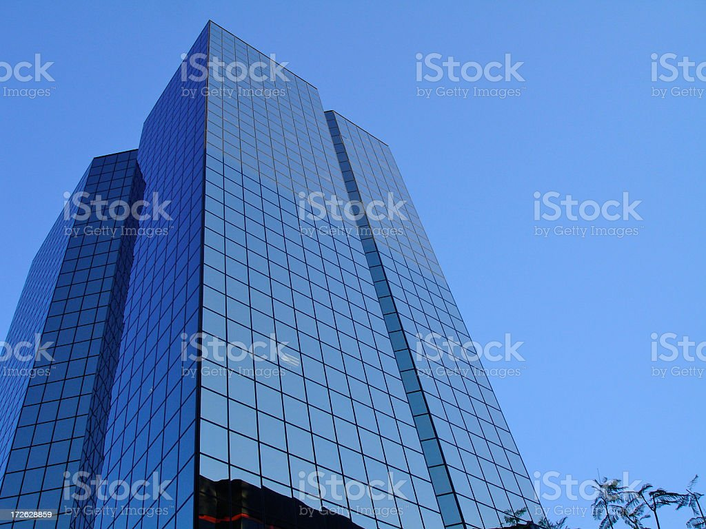 Blue glass Buildings stock photo