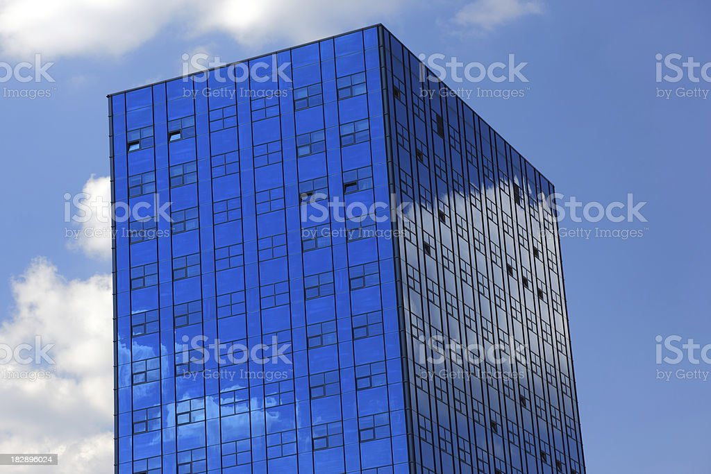 Blue Glass Buildings royalty-free stock photo