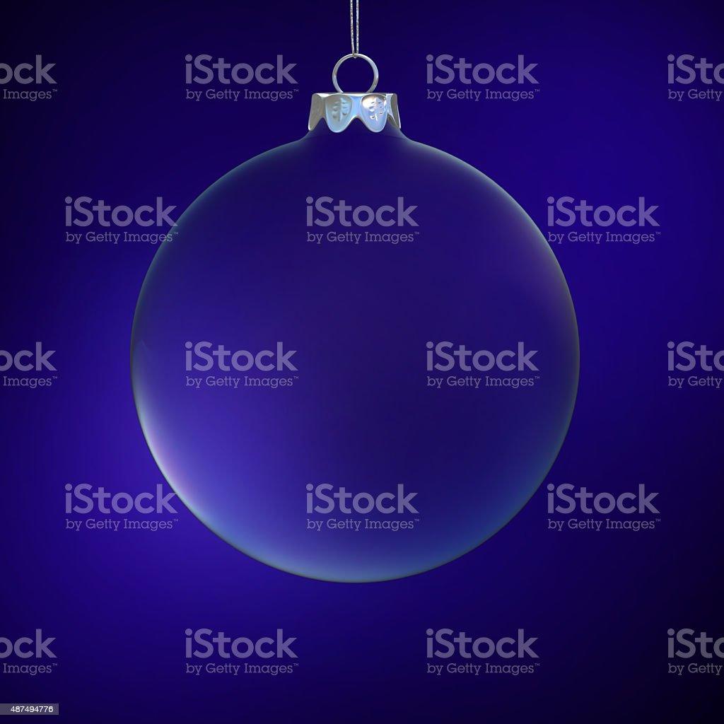 Blue glass Christmas ball stock photo