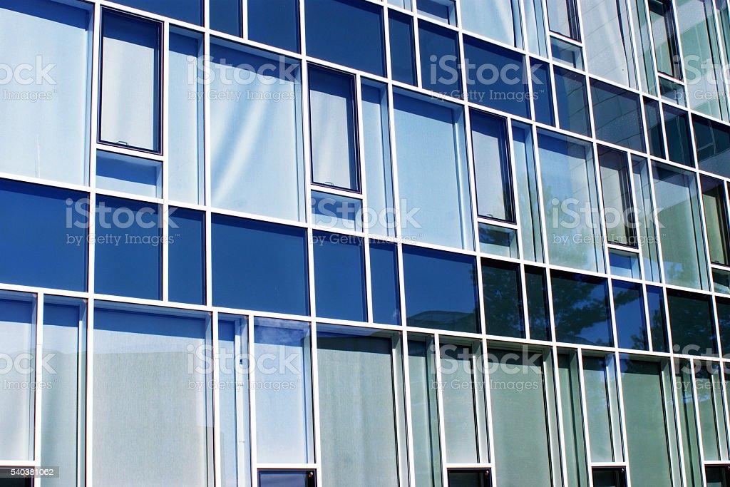 Blue glass facede stock photo