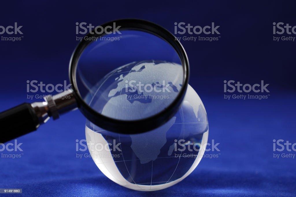 Blue glass globe royalty-free stock photo