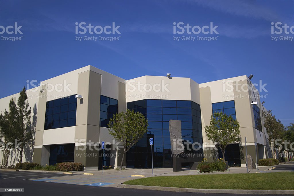 Blue Glass Modern Building XXXL stock photo