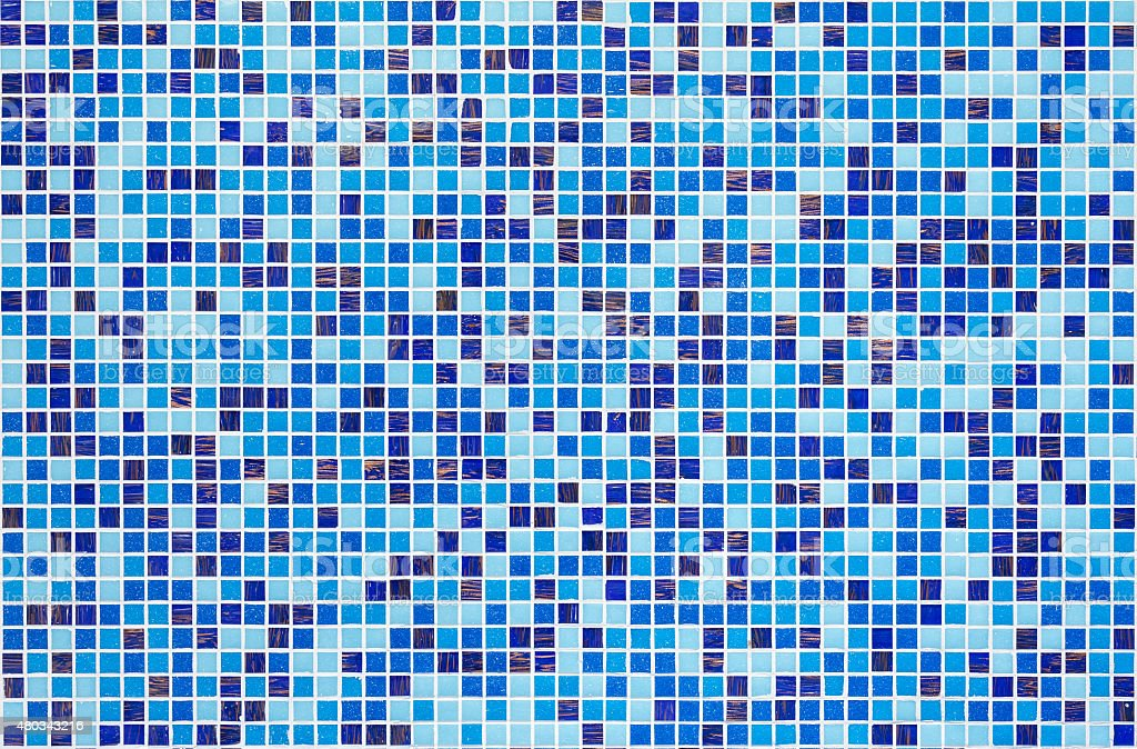 Blue glass mosaic stock photo