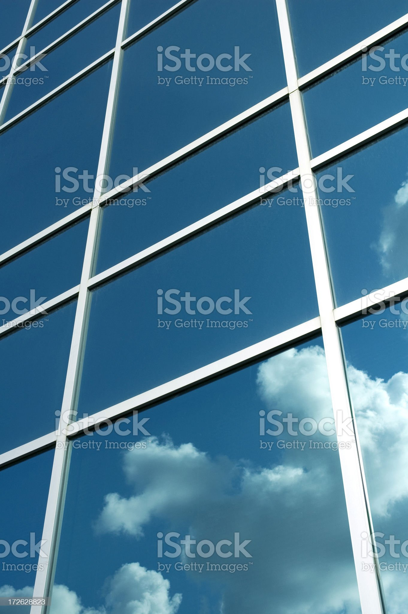 Blue Glass Office Tower royalty-free stock photo