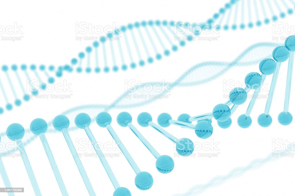 DNA Blue Glass royalty-free stock photo