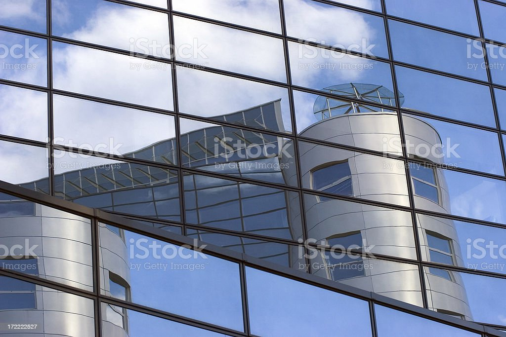 Blue glass reflections VI royalty-free stock photo