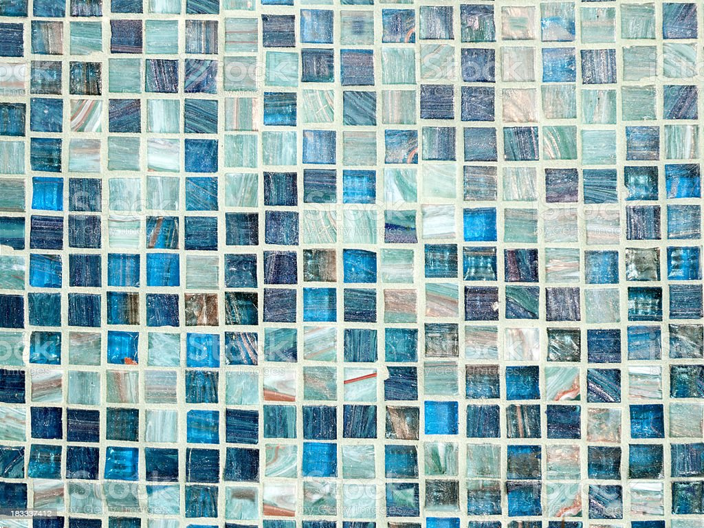 Blue Glass Tile Background royalty-free stock photo