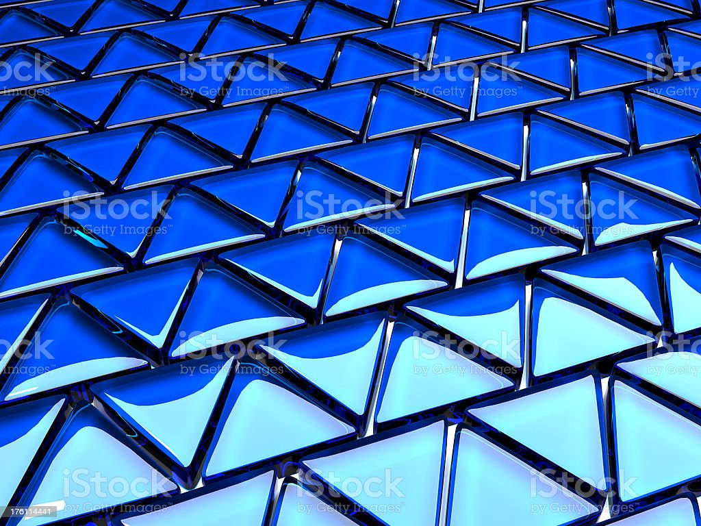 Blue glass tile mosaic background royalty-free stock photo