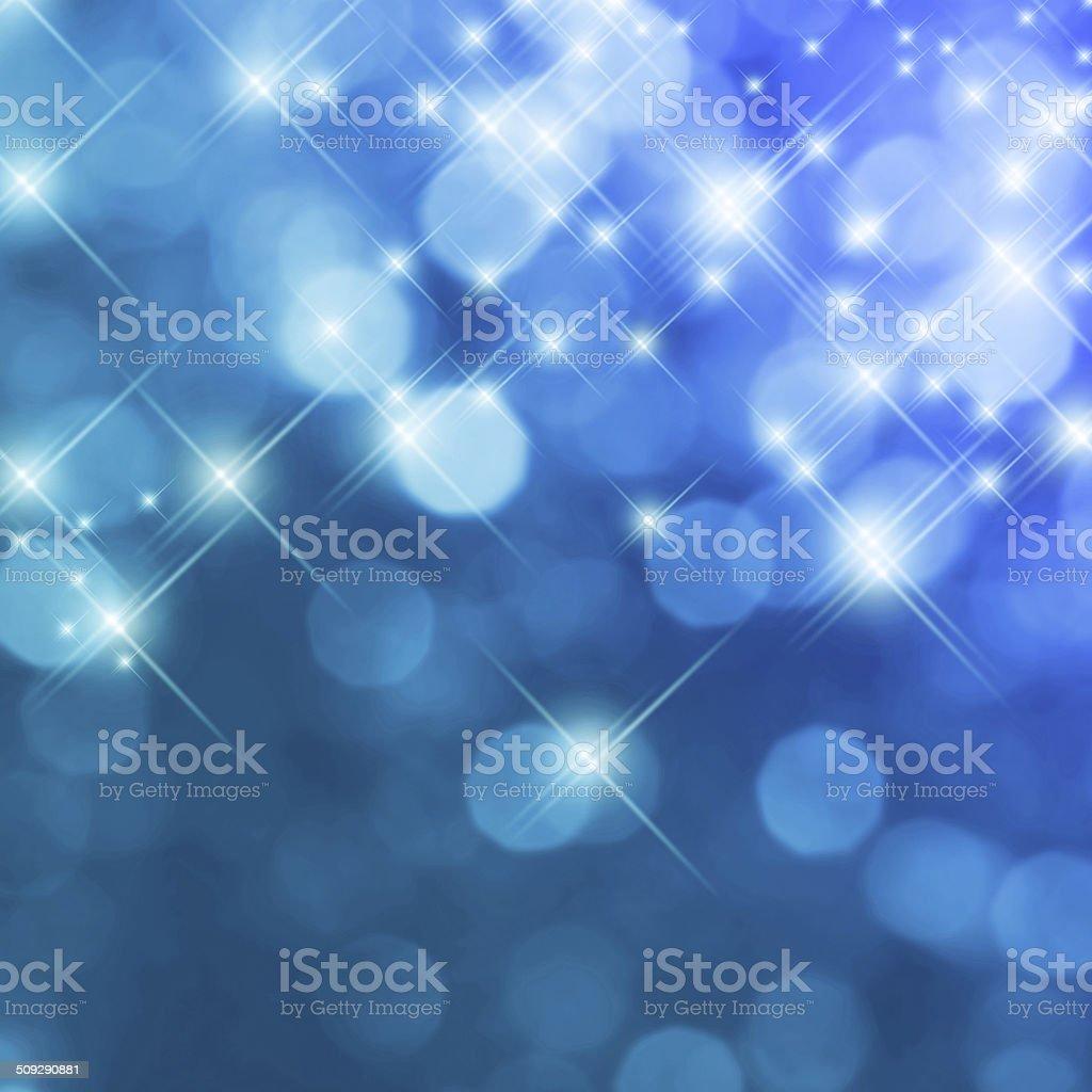 Blue glitter background stock photo