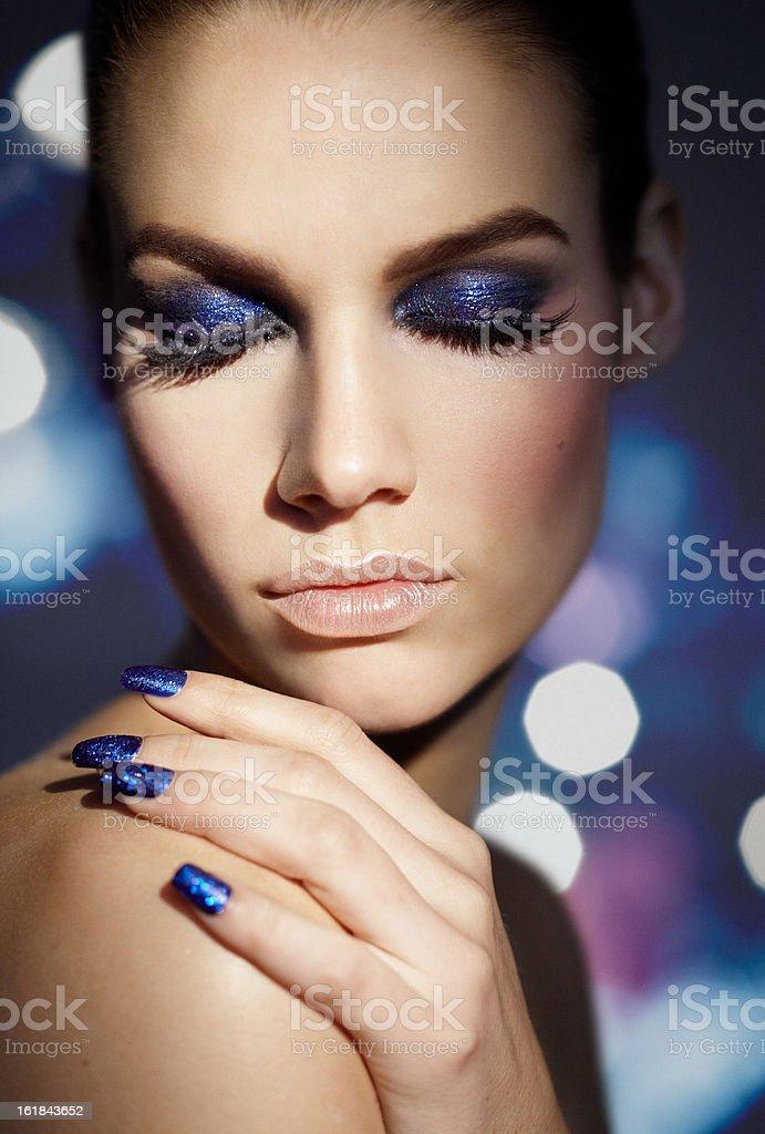 Blue Glitter royalty-free stock photo