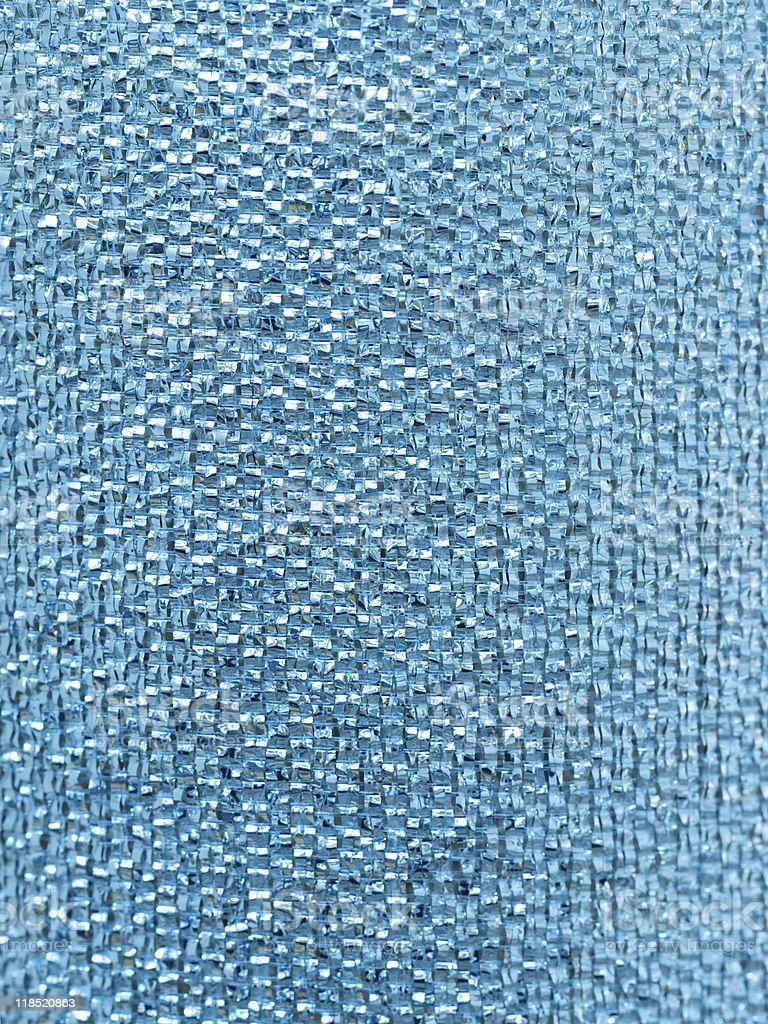 Blue glitter ribbon texture, close-up royalty-free stock photo