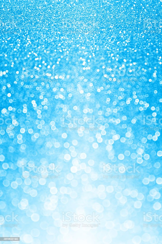 Blue Glitter Sparkle Background stock photo