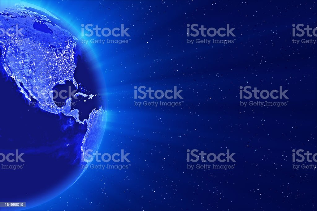 Blue Globe royalty-free stock photo