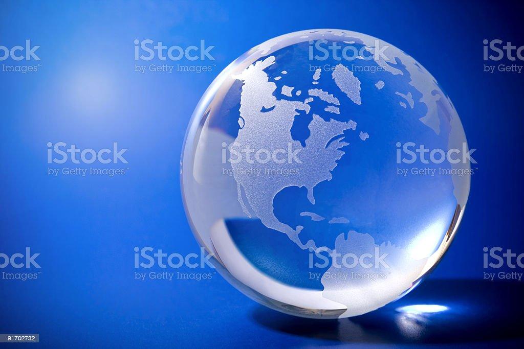 Синий глобус с copyspace Стоковые фото Стоковая фотография