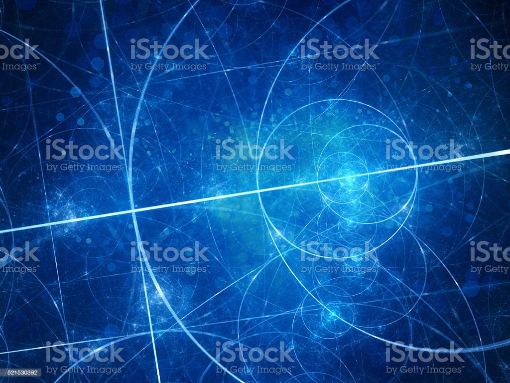 Blue glowing Euclid circles stock photo