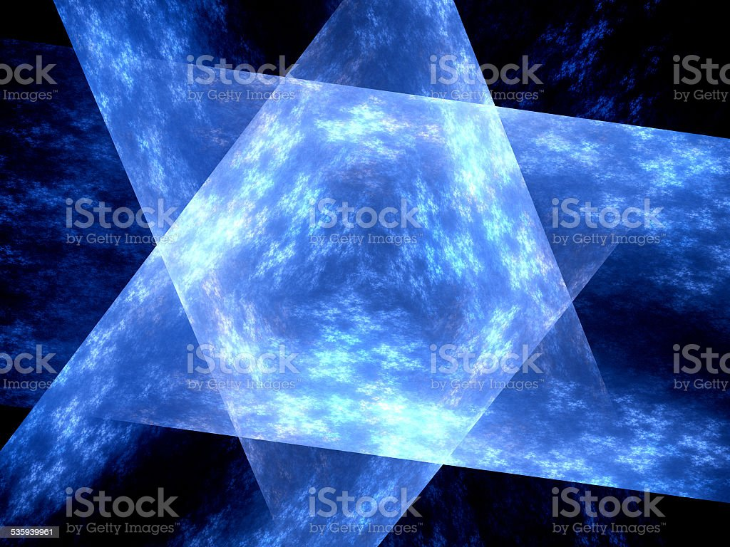Blue glowing multidimensional surface stock photo