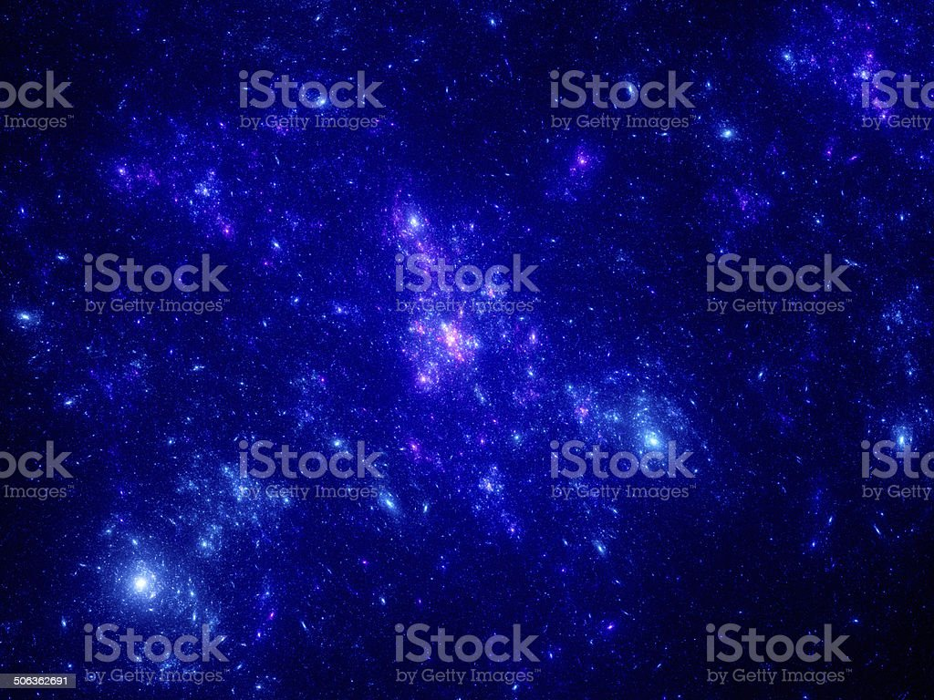 Blue glowing stars royalty-free stock vector art