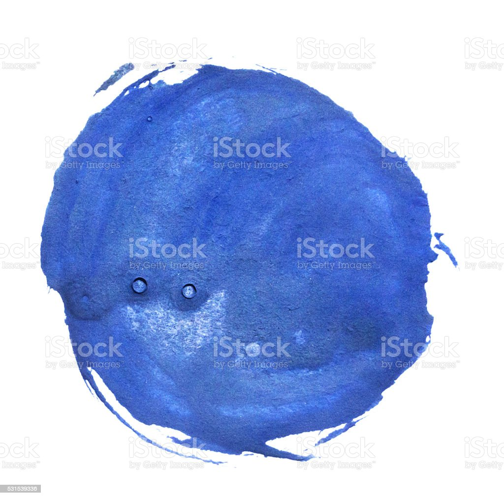 blue gouache blot stock photo