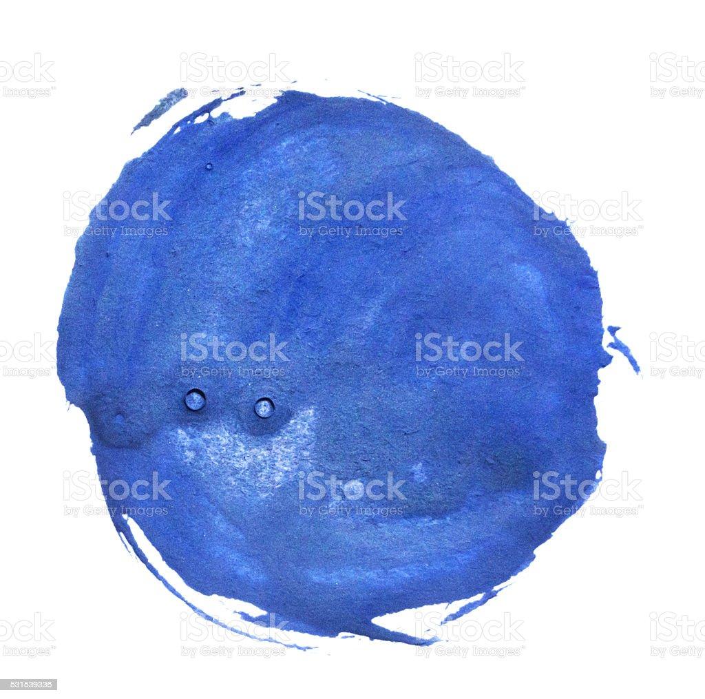 blue gouache blot stock photo