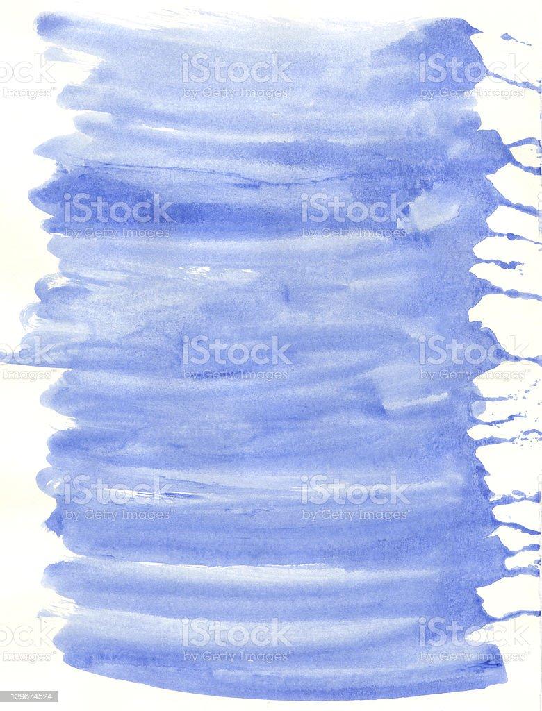 Blue Gouache Paint Wash Texture stock photo