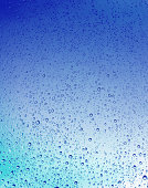 Blue gradient background with water drops
