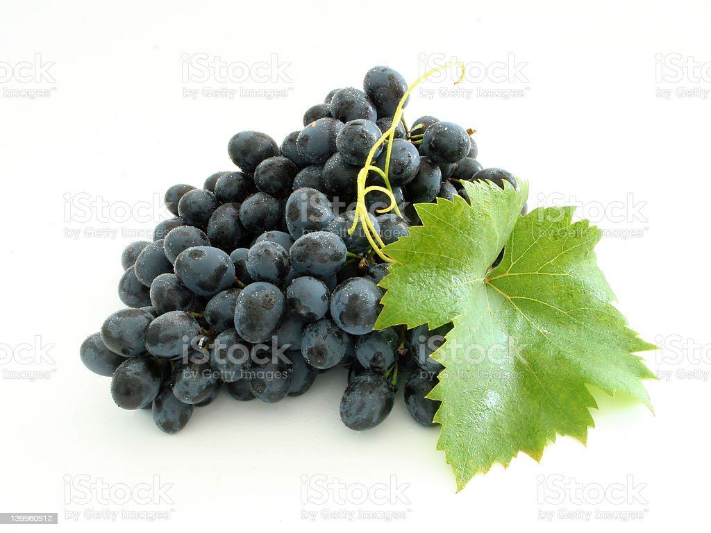 Blue grape cluster royalty-free stock photo