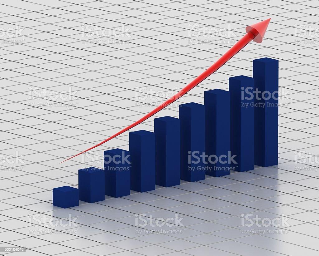 blue graph & chart stock photo