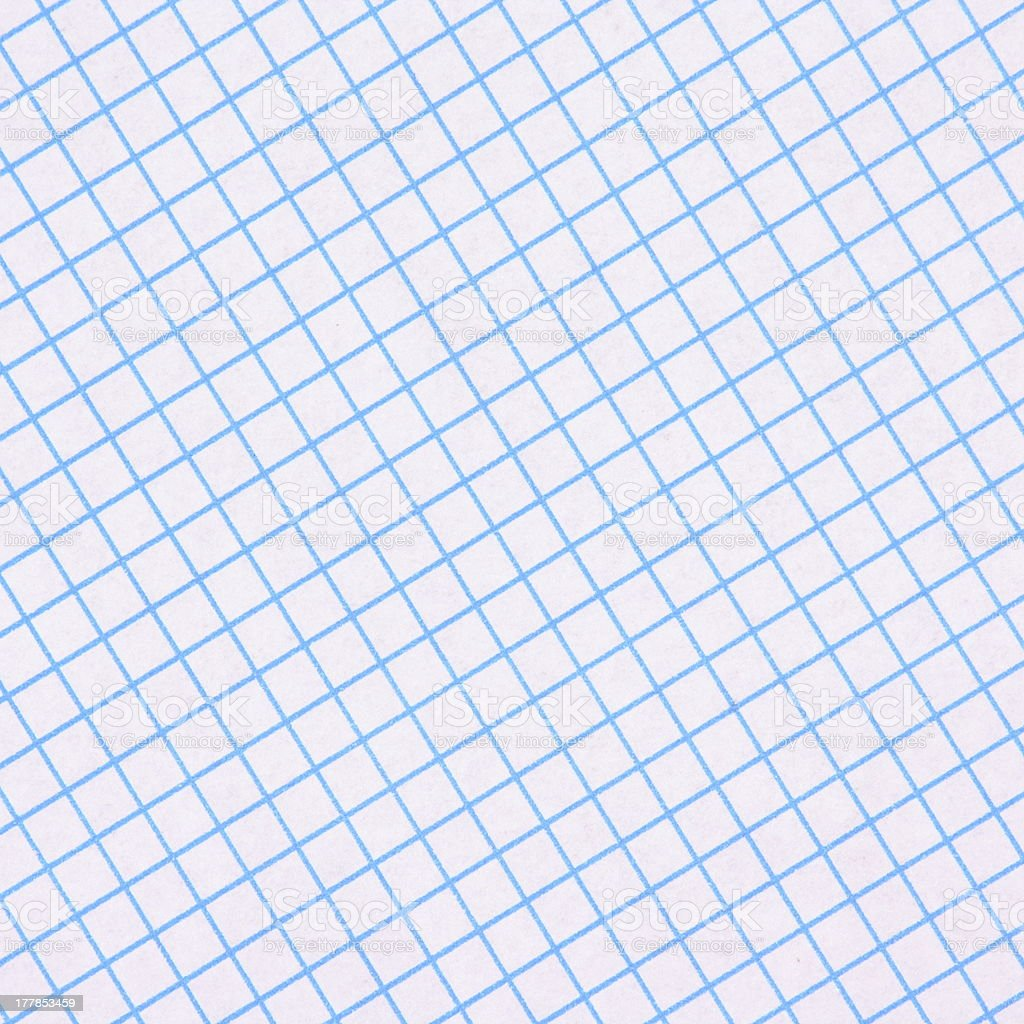 Blue Graph Paper Background royalty-free stock photo
