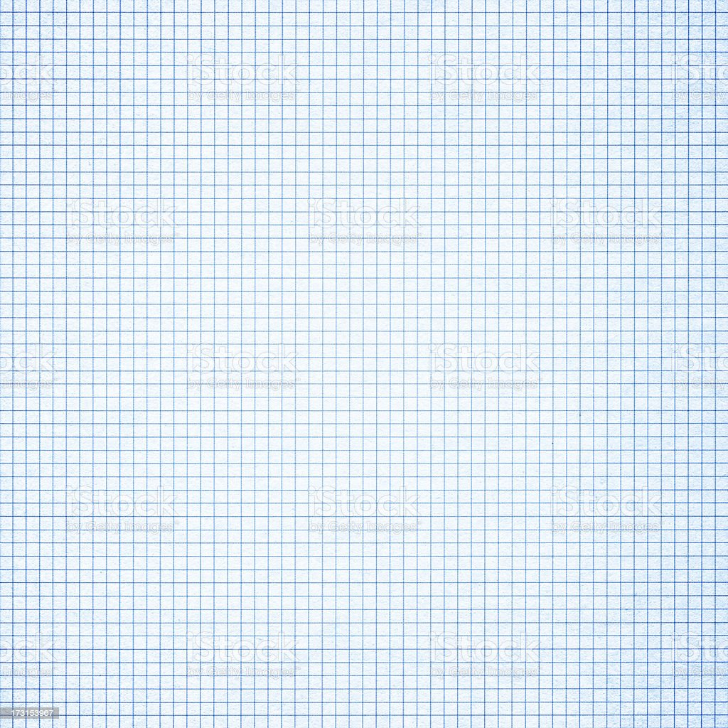 Blue graph paper background textured stock photo