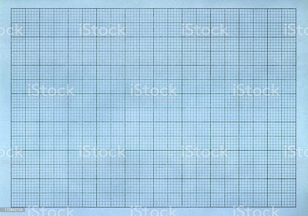 Blue Graph Paper royalty-free stock photo