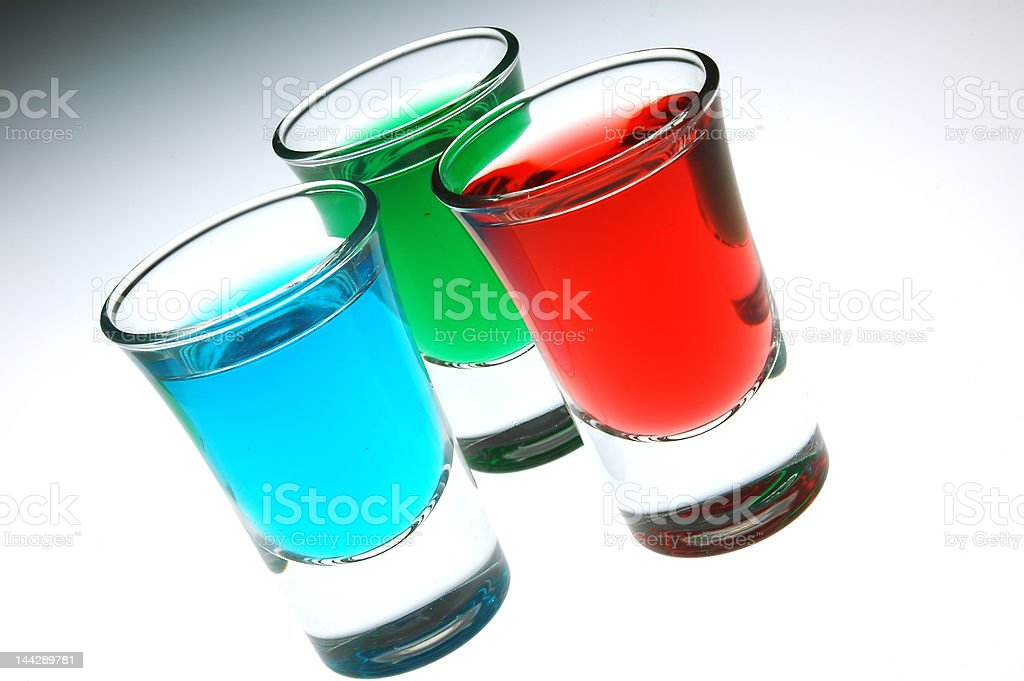 blue green and red shots royalty-free stock photo